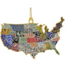 #54439 USA License Plate Map