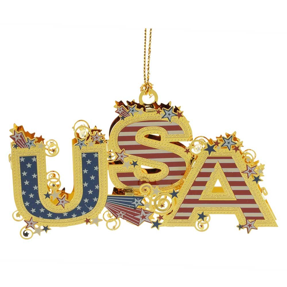 USA 3D Christmas Ornament Handcrafted In The USA Item #54437