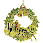 Christmas Horse and Buggy Christmas Ornament by Chem Art