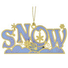 57176 Snow Christmas Ornament
