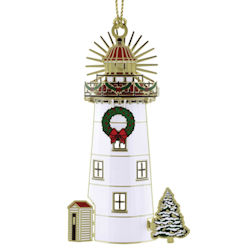 Holiday Light House Christmas Ornament