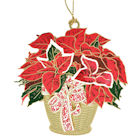 57182 Poinsettia Basket Christmas Ornament