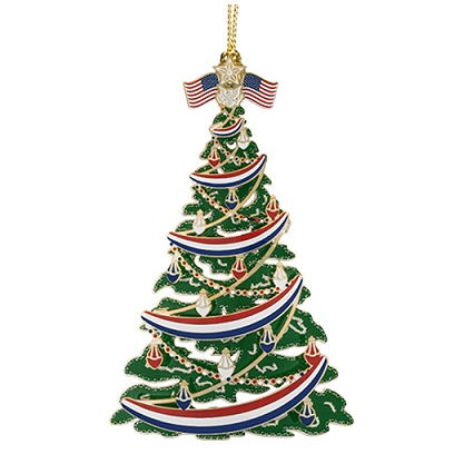 #58287 Classic Patriotic Christmas Tree Ornament - Classic Patriotic Christmas Tree Ornament Handcrafted In The USA