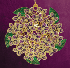 Lilac Christmas Ornament