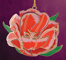 Tulip Christmas Ornament by Chem Art