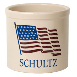 Personalized American Heritage Welcome Crock